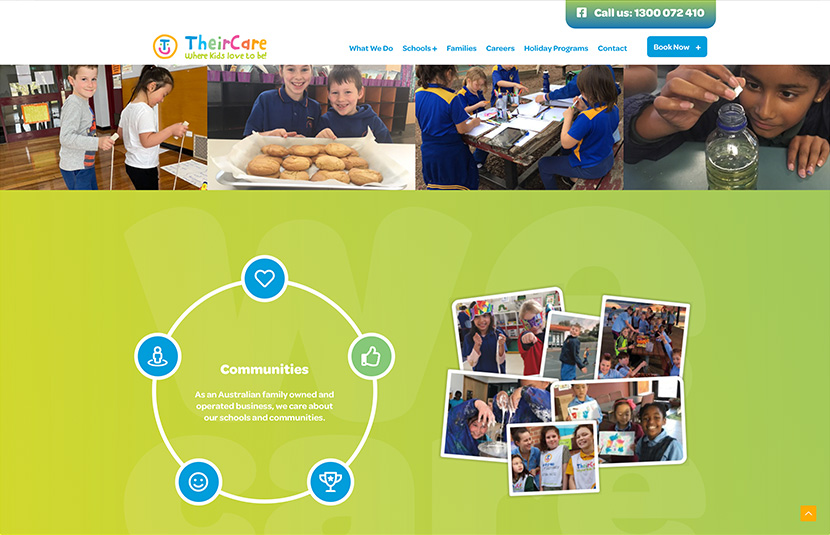 TheirCare Website Design